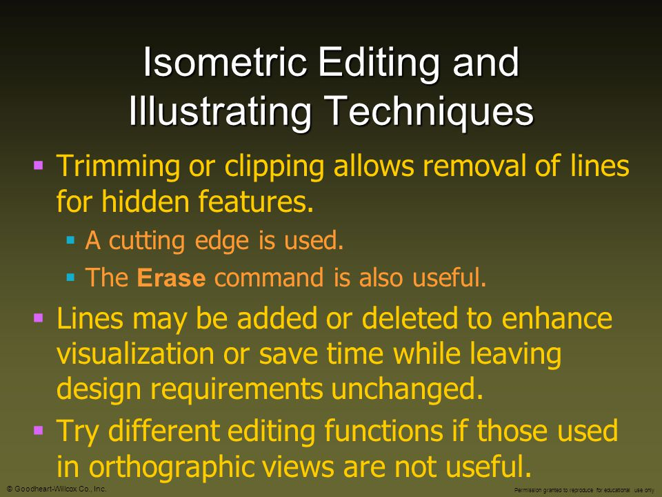 Isometric Editing and Illustrating Techniques