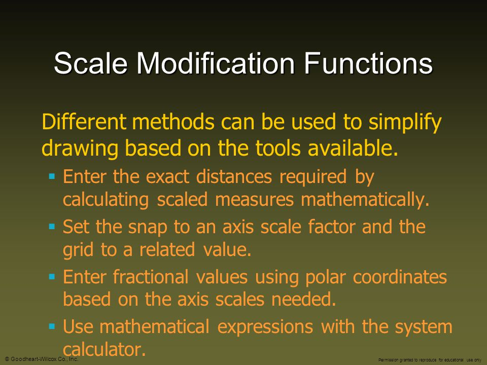 Scale Modification Functions
