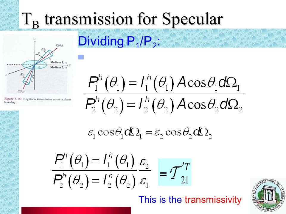 TB transmission for Specular
