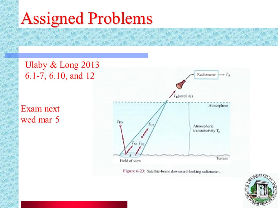 Assigned Problems Ulaby & Long 2013 6.1-7, 6.10, and 12