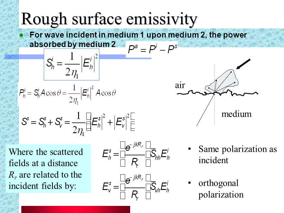 Rough surface emissivity