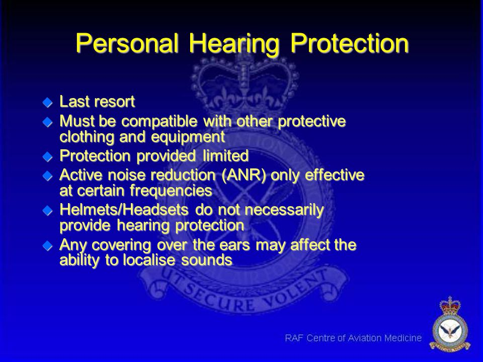 Personal Hearing Protection