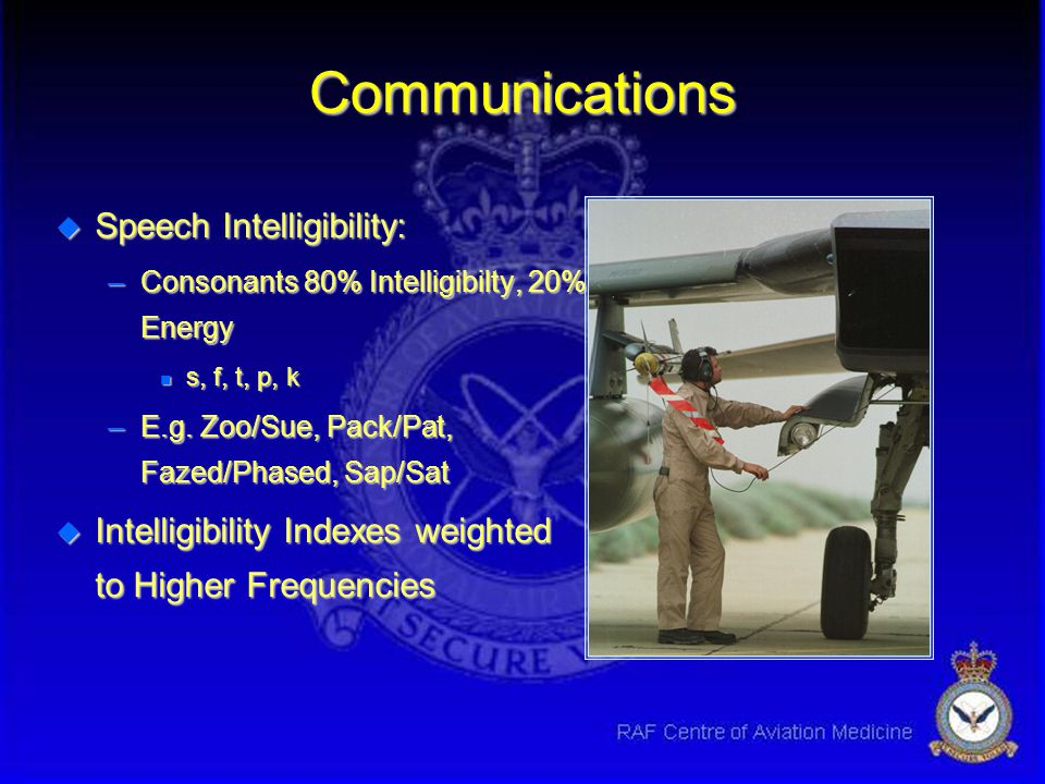 Communications Speech Intelligibility: