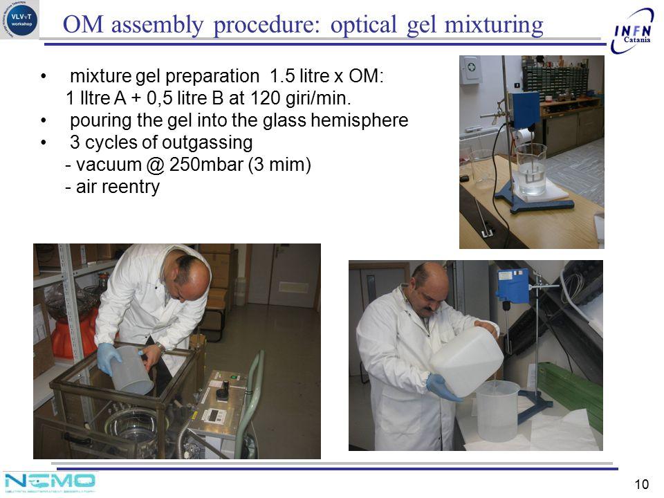 OM assembly procedure: optical gel mixturing