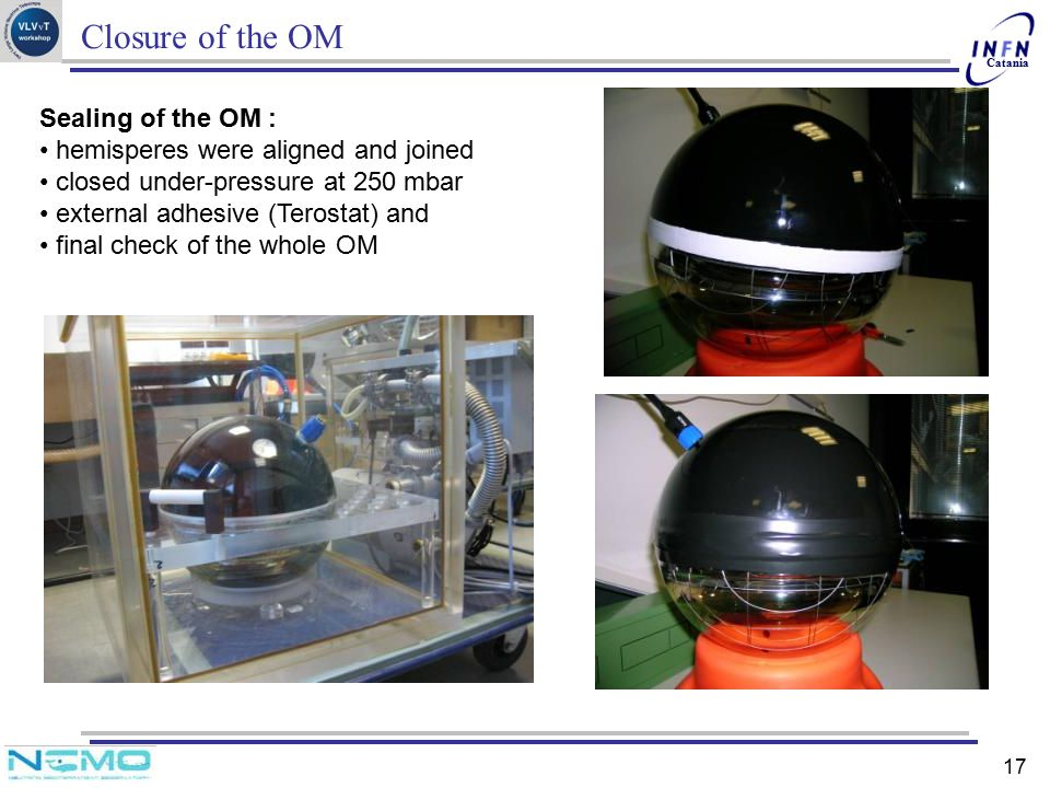 Closure of the OM Sealing of the OM :