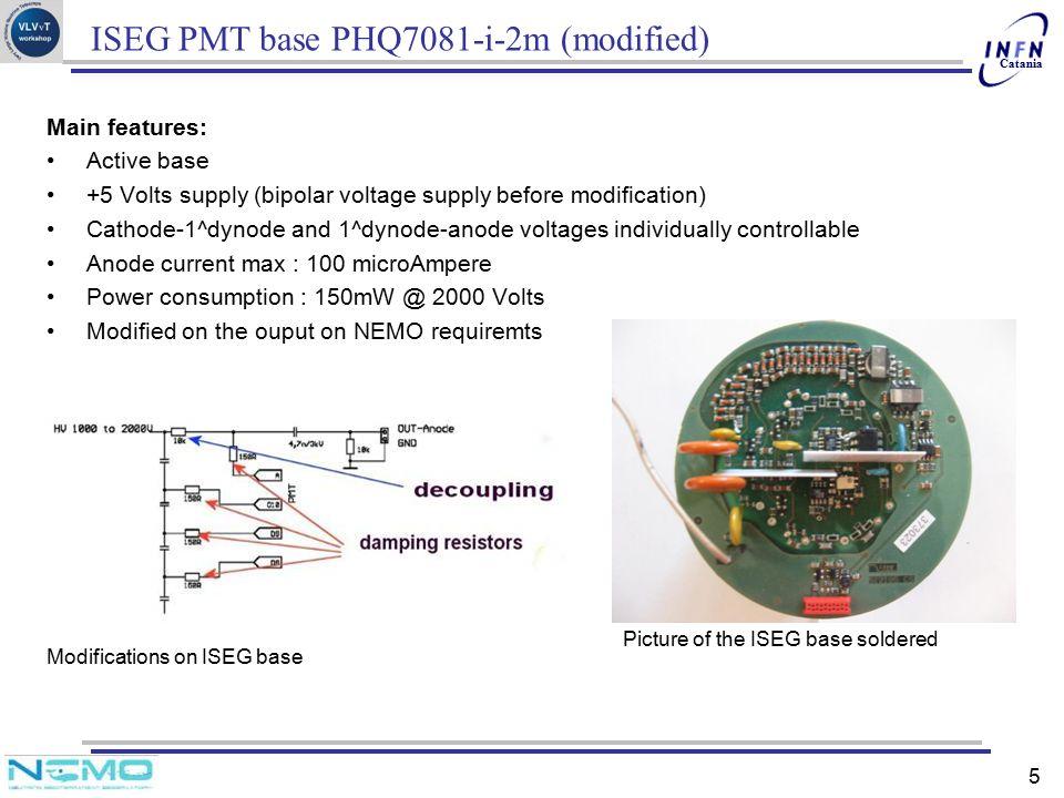 ISEG PMT base PHQ7081-i-2m (modified)