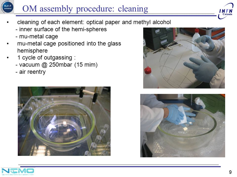 OM assembly procedure: cleaning