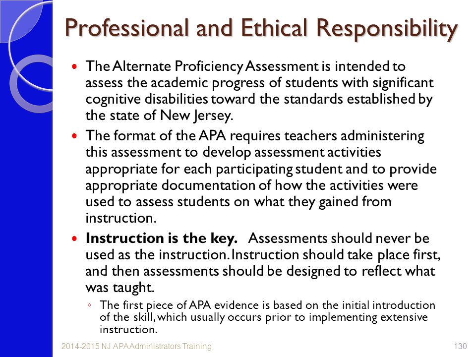 Professional and Ethical Responsibility