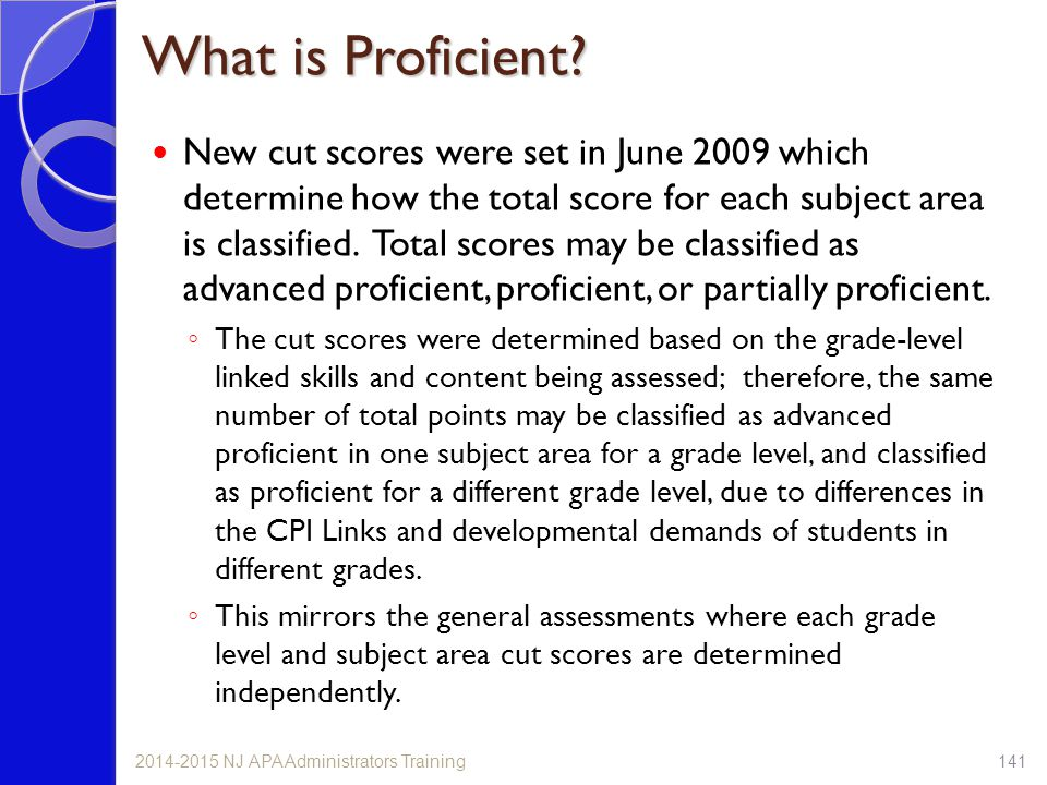What is Proficient