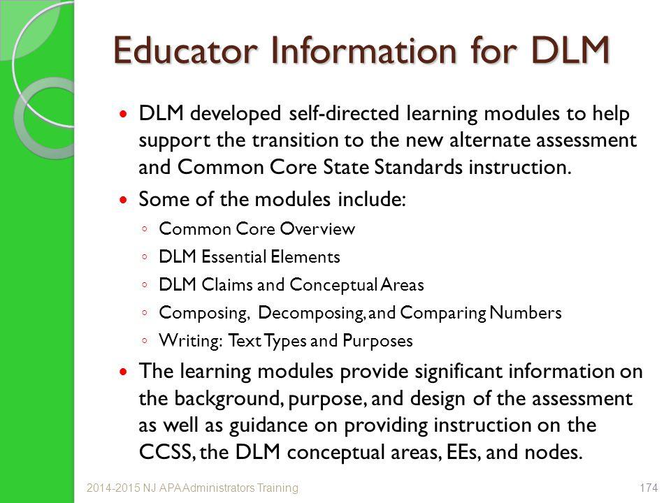 Educator Information for DLM