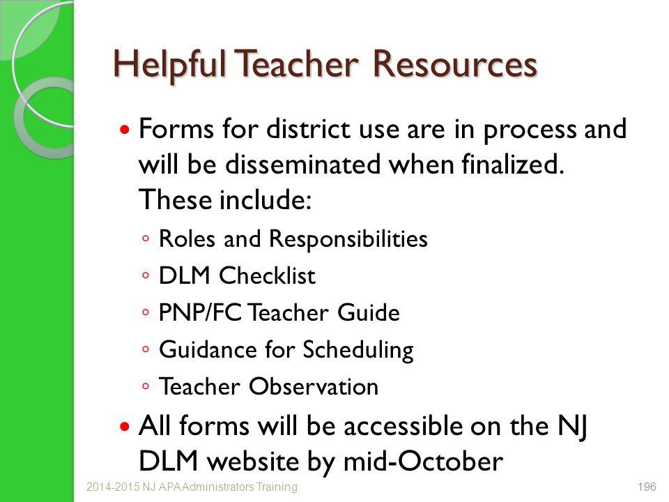 Helpful Teacher Resources