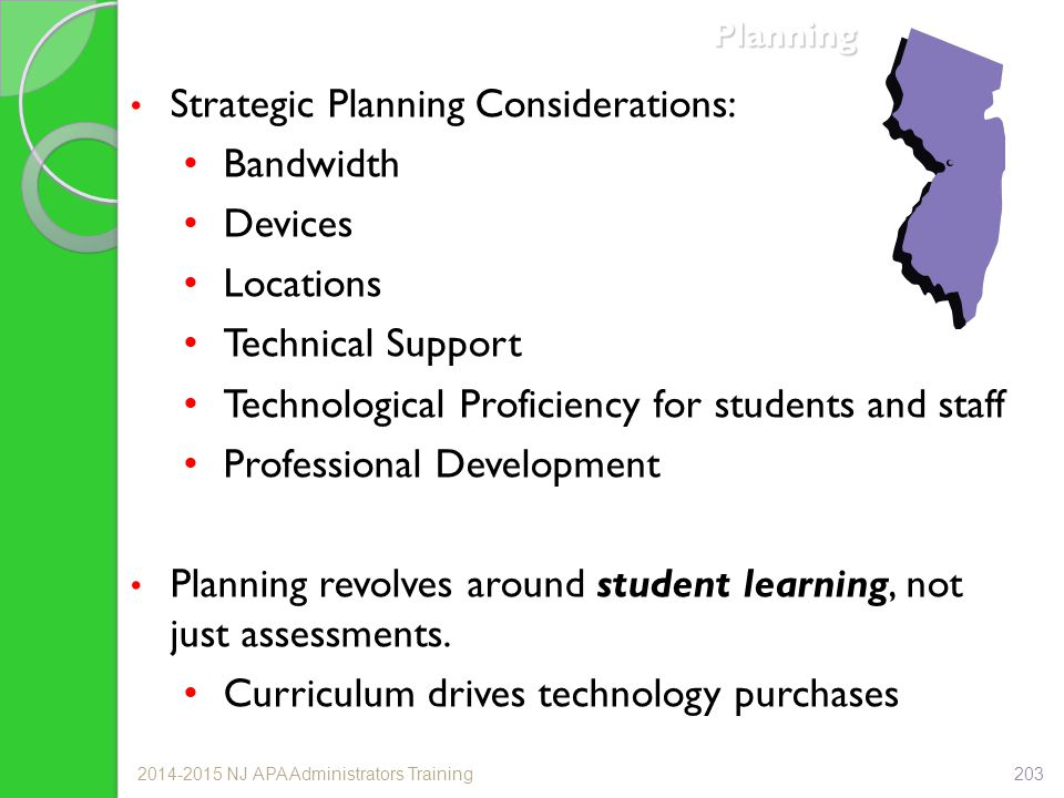Strategic Planning Considerations: Bandwidth Devices Locations