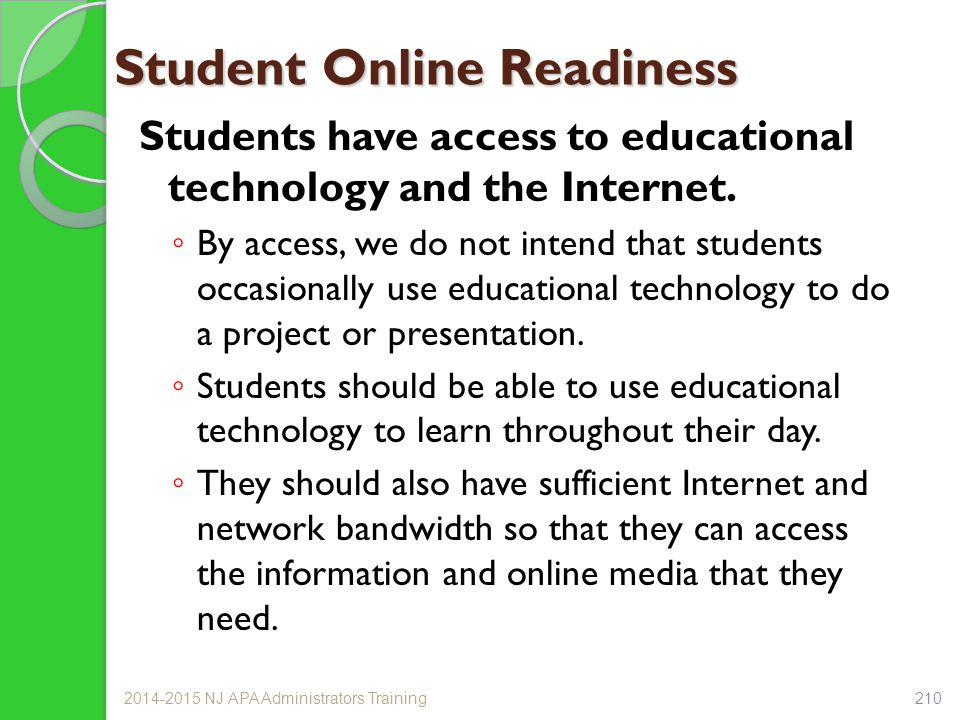 Student Online Readiness