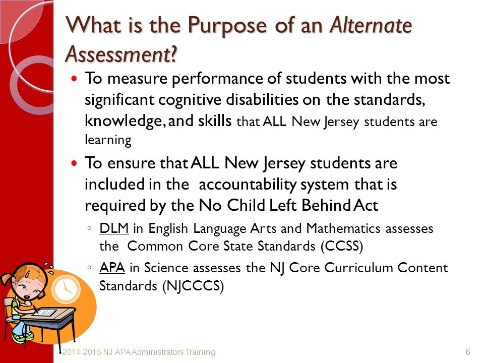 What is the Purpose of an Alternate Assessment
