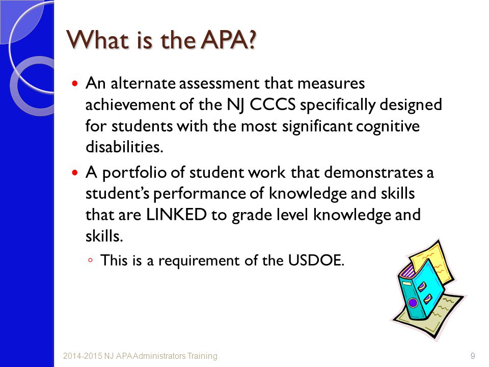 What is the APA
