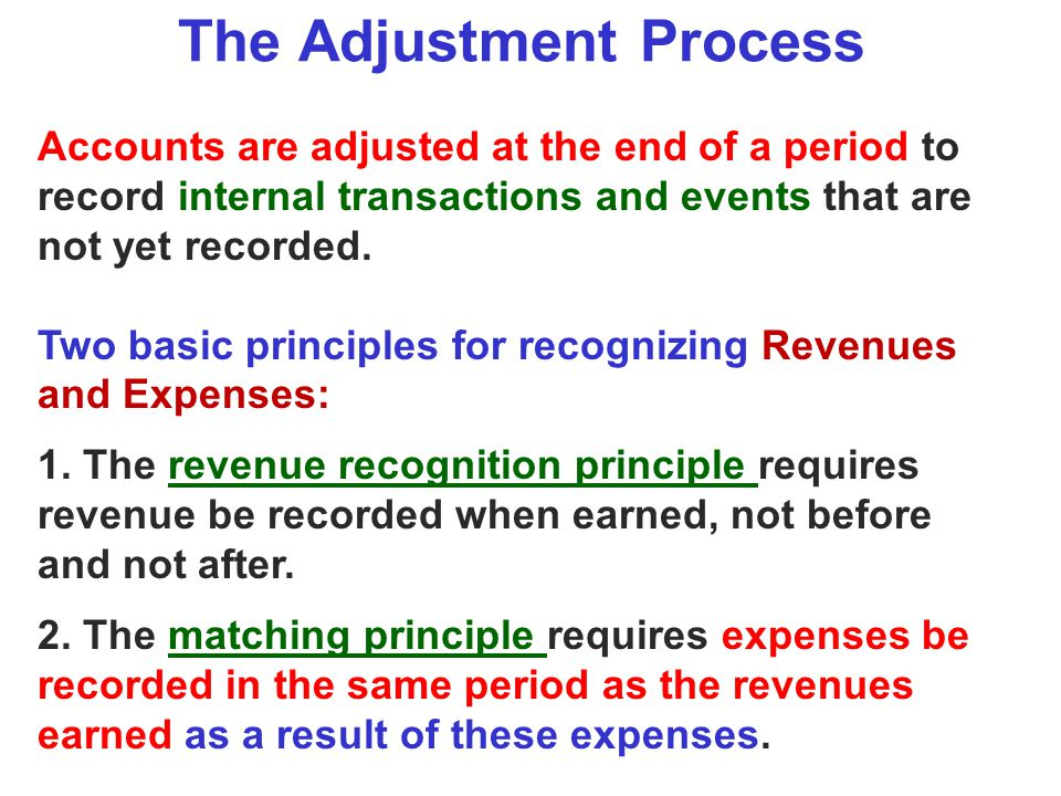 The Adjustment Process