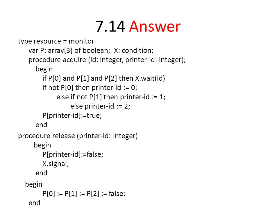 7.14 Answer