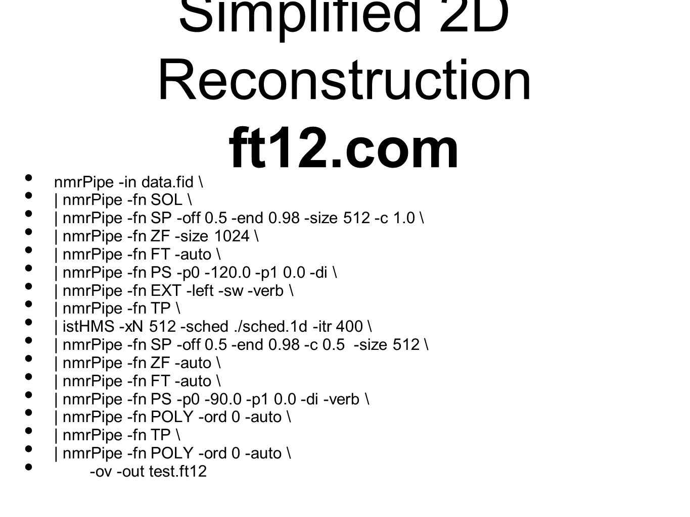 Simplified 2D Reconstruction ft12.com