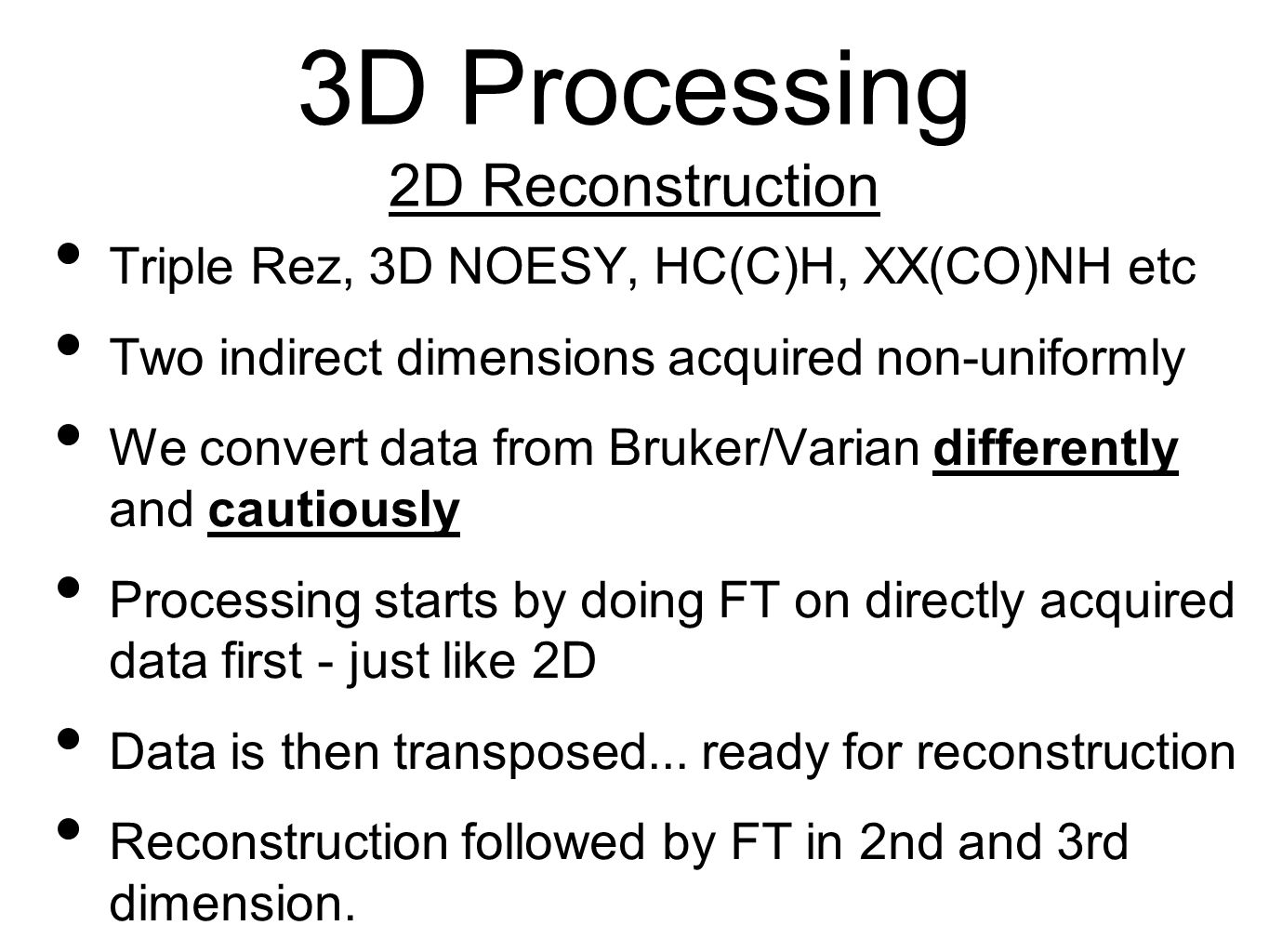 3D Processing 2D Reconstruction