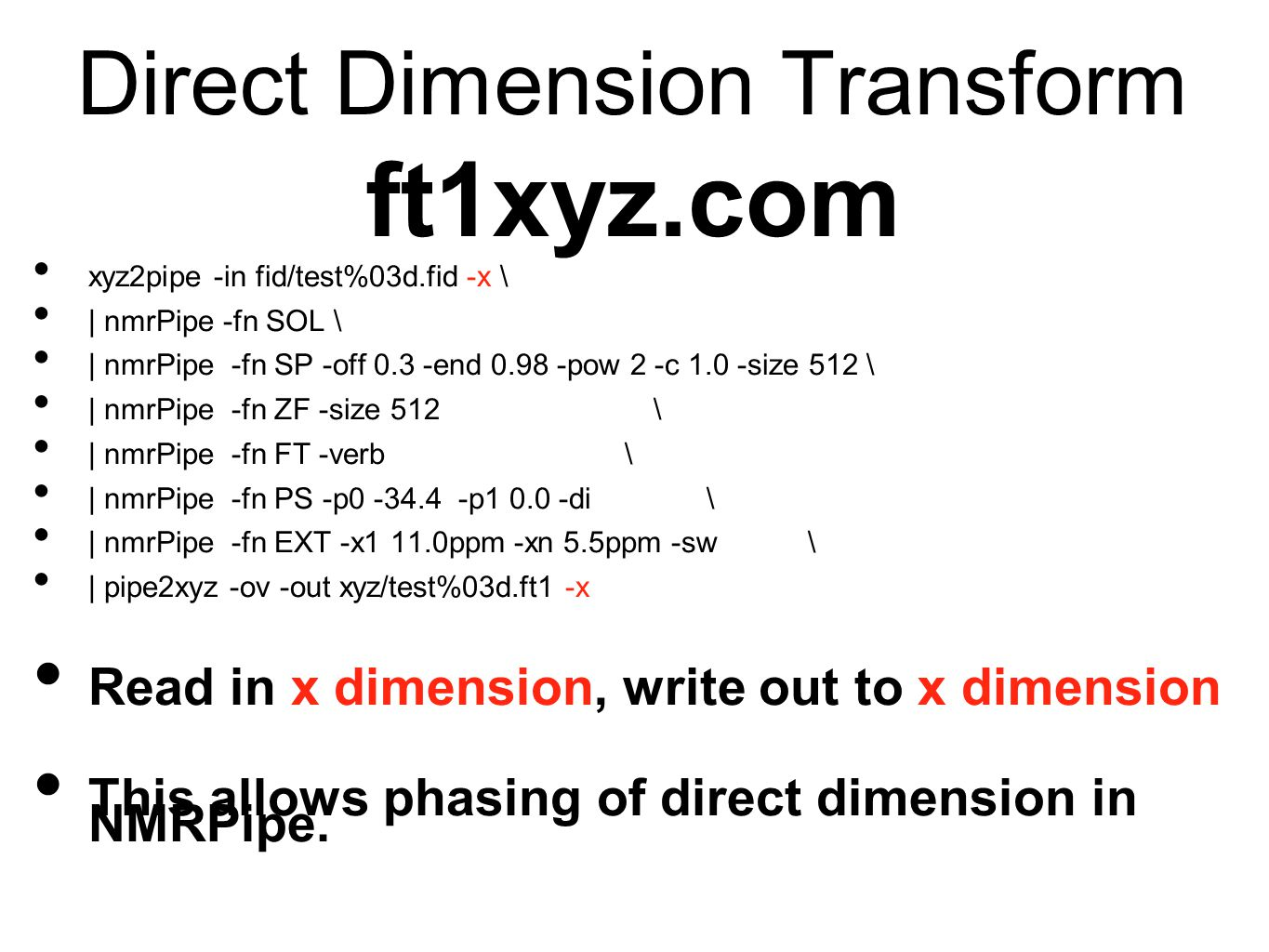 Direct Dimension Transform ft1xyz.com