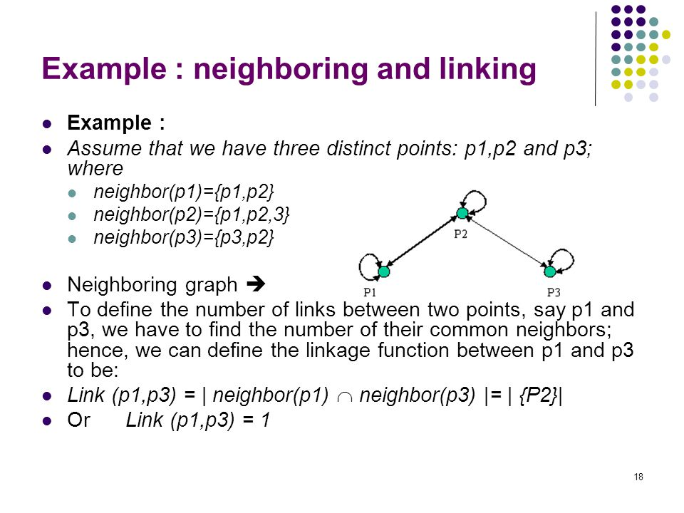 Example : neighboring and linking