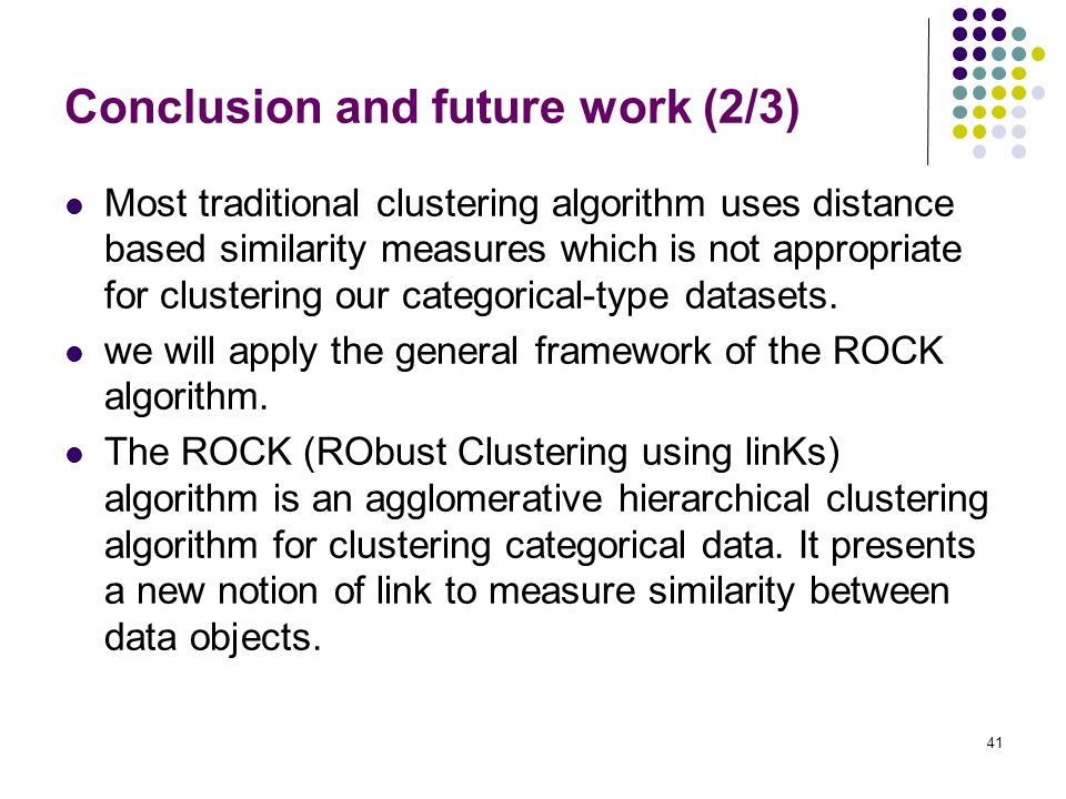 Conclusion and future work (2/3)
