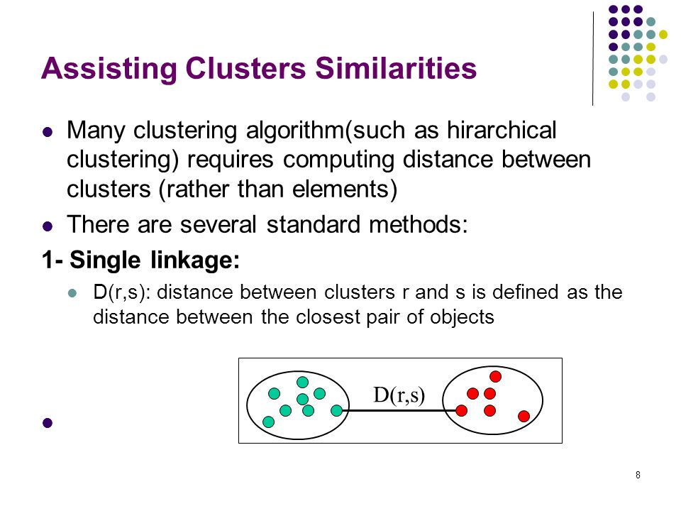 Assisting Clusters Similarities
