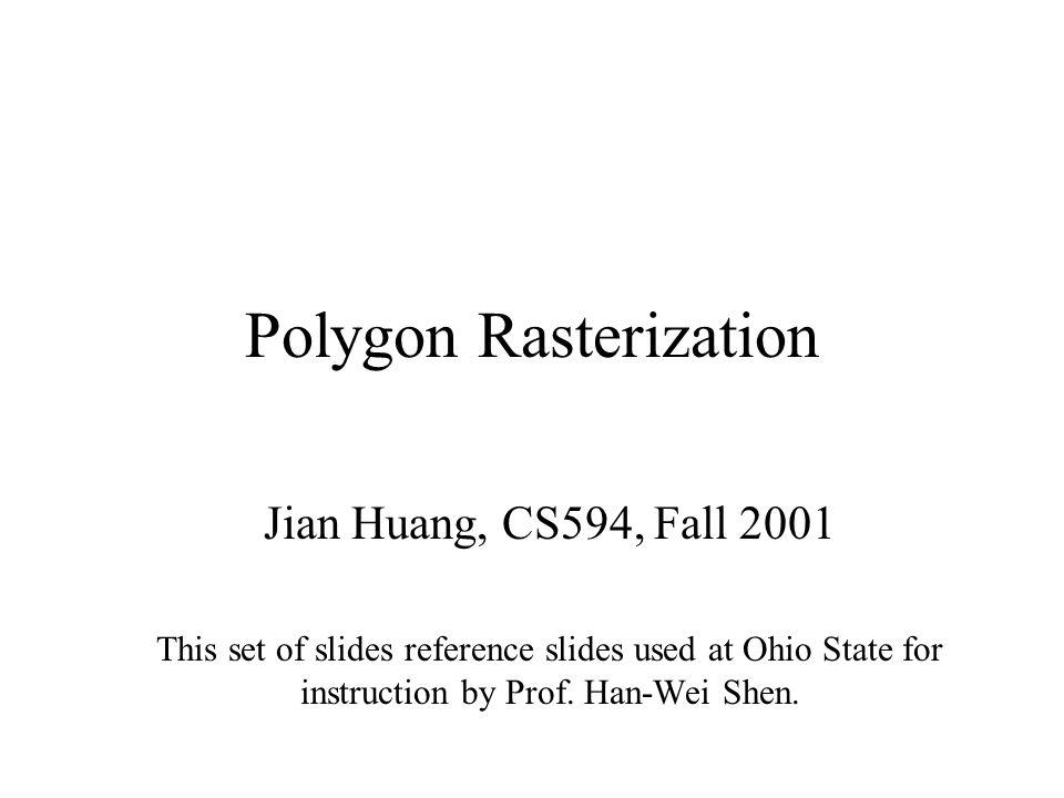 Polygon Rasterization