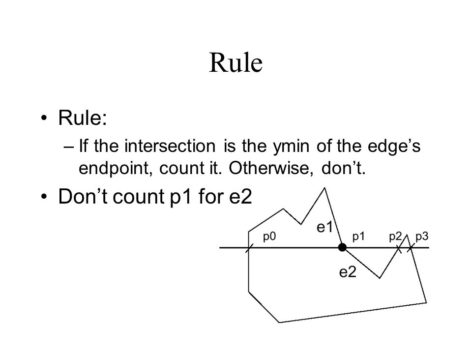 Rule Rule: Don't count p1 for e2