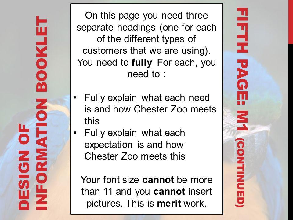 DESIGN OF INFORMATION BOOKLET