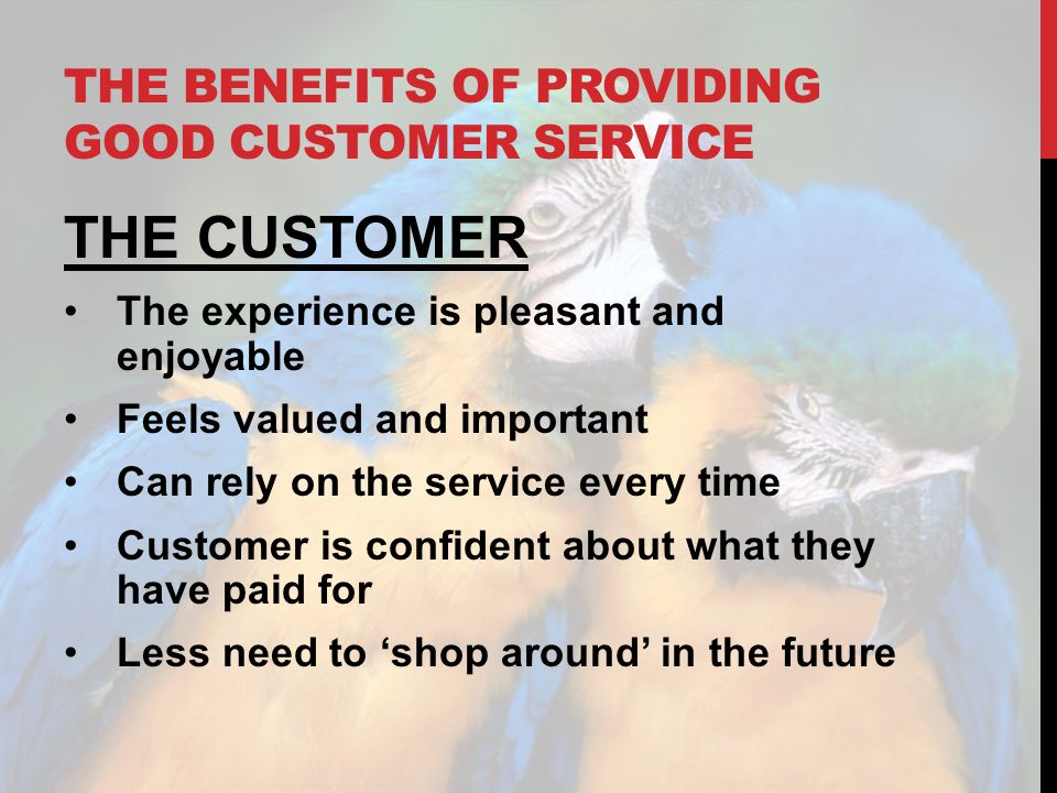 The benefits of providing good customer service