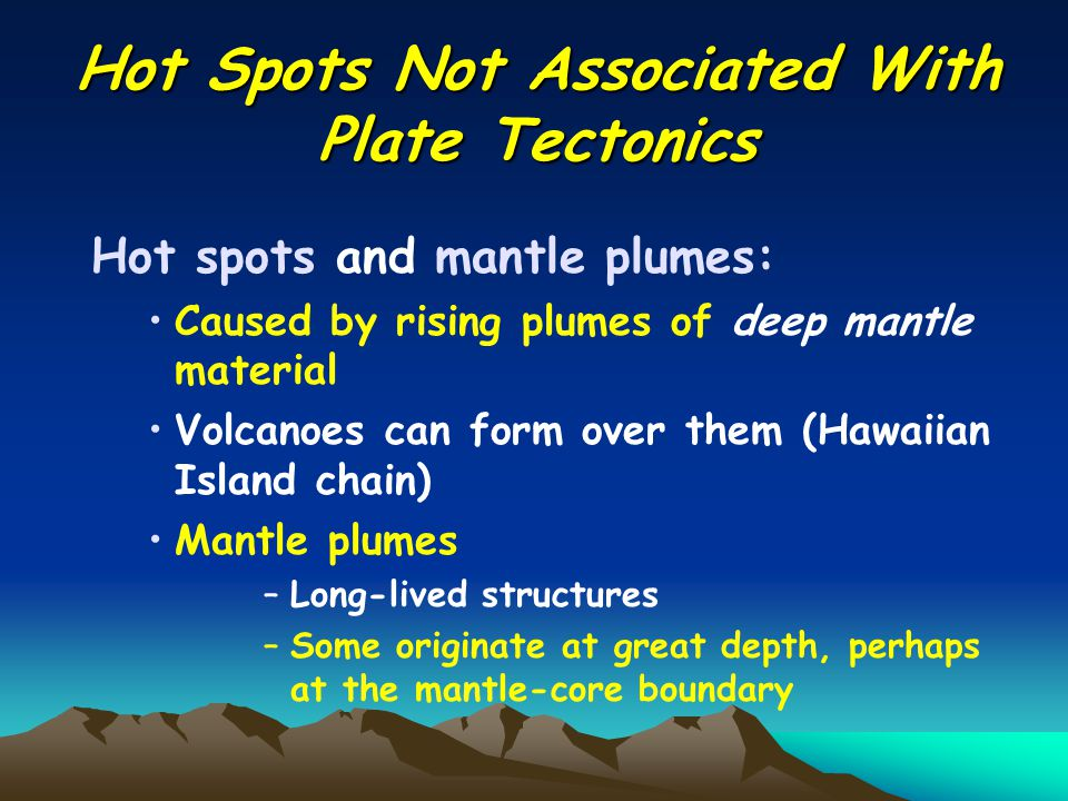 Hot Spots Not Associated With Plate Tectonics