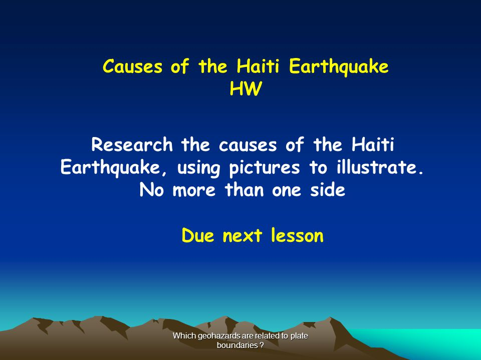 Causes of the Haiti Earthquake