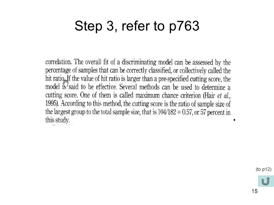 Step 3, refer to p763 (to p12)
