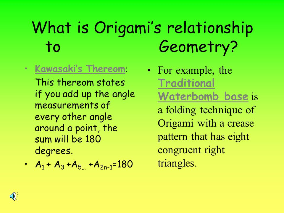 What is Origami's relationship to Geometry
