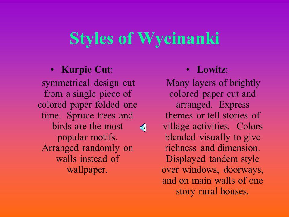 Styles of Wycinanki Kurpie Cut: