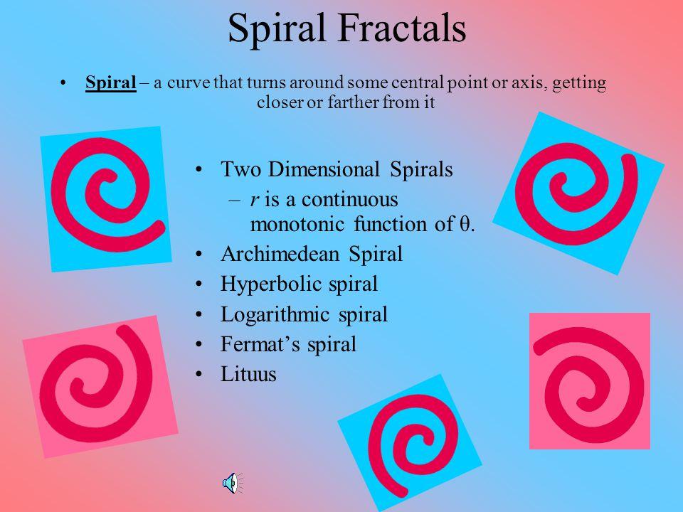 Spiral Fractals Two Dimensional Spirals
