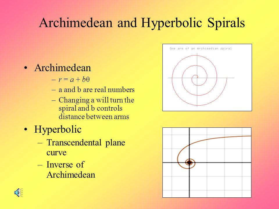 Archimedean and Hyperbolic Spirals