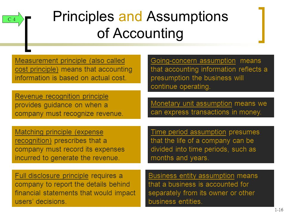 Principles and Assumptions of Accounting