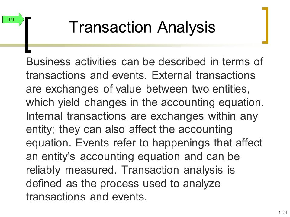 Transaction Analysis P1.