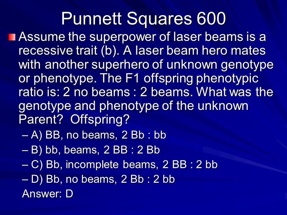 Punnett Squares 600