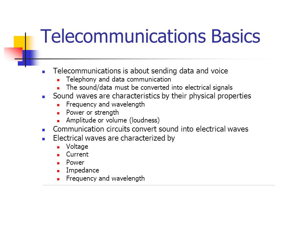 Telecommunications Basics
