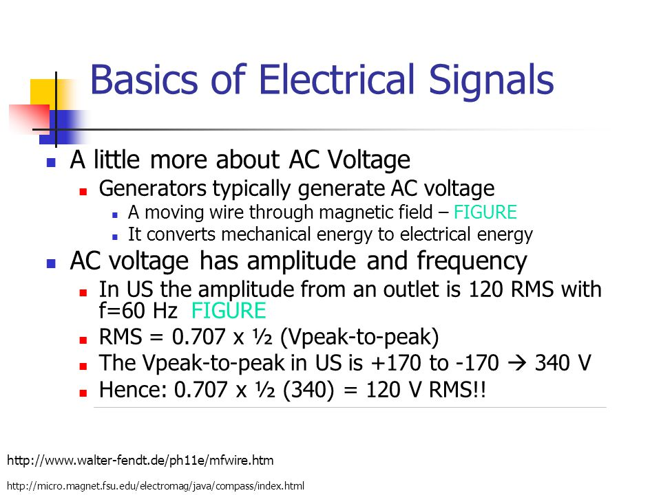 Basics of Electrical Signals