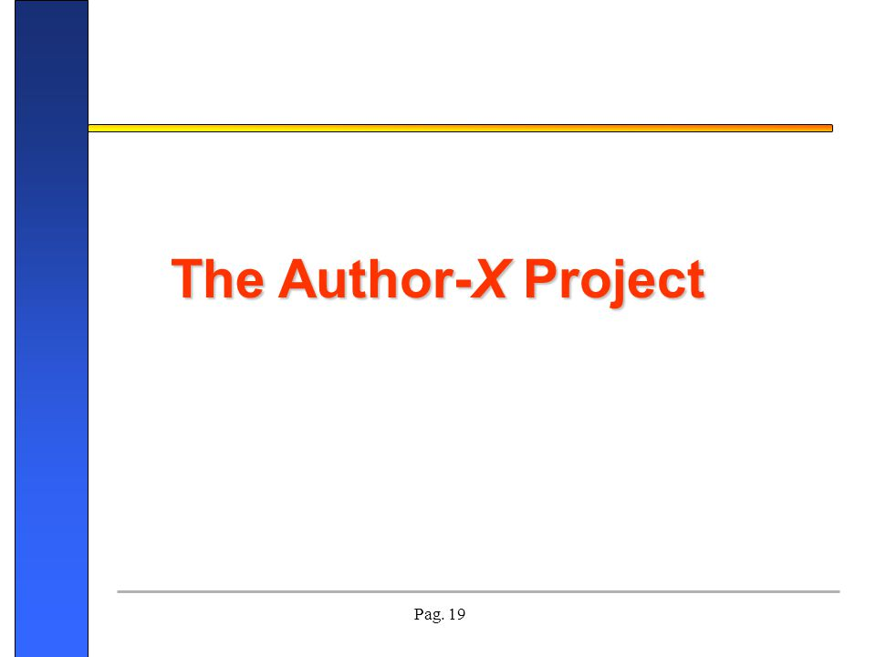 The Author-X Project Buona sera mi chiamo Cristina Ronchi