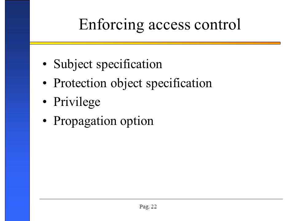 Enforcing access control