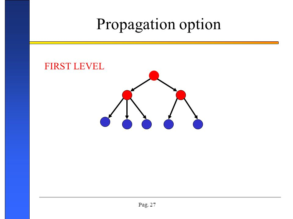 Propagation option FIRST LEVEL