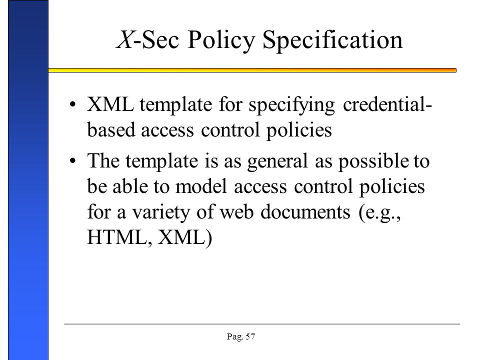 X-Sec Policy Specification