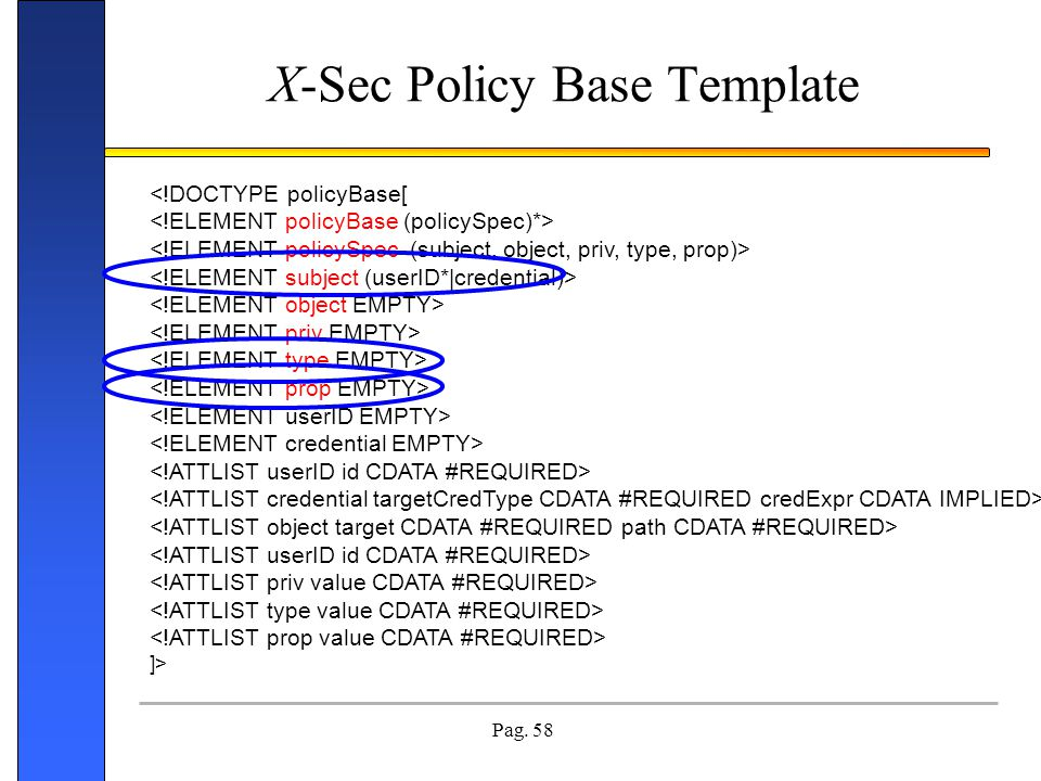 X-Sec Policy Base Template