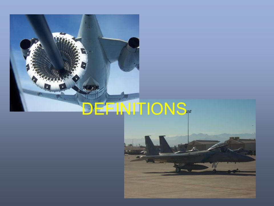 DEFINITIONS A few definitions so that we can understand what is happening around a wing.