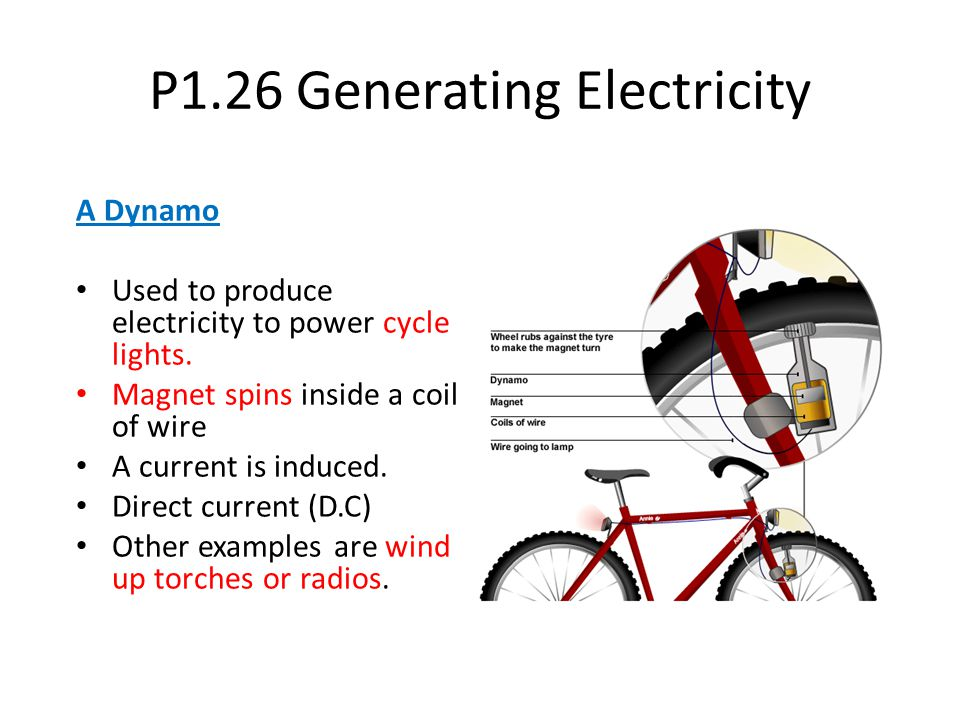 P1.26 Generating Electricity
